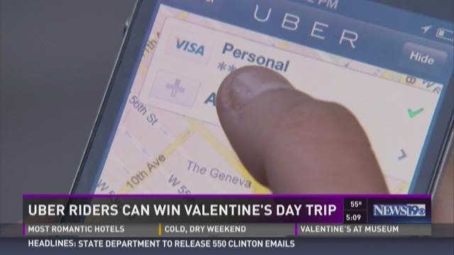 Uber Riders Can Win Valentine's Day Trip