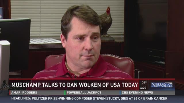 USC head football coach Will Muschamp gave an extensive inteview with Dan Wolken from USA Today.