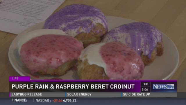 Purple Rain & Raspberry Croinut