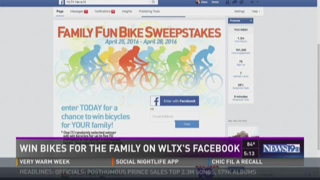 Win Bikes for the Family on WLTX's Facebook Page