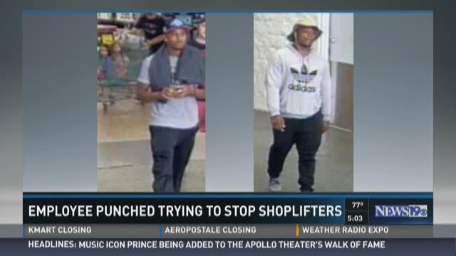 Employee Punched Trying to Stop Shoplifters