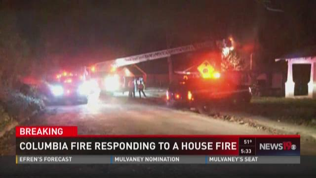 Cola Fire Responding to House Fire