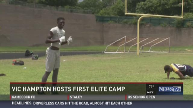Vic Hampton Hosts Elite Football Camp