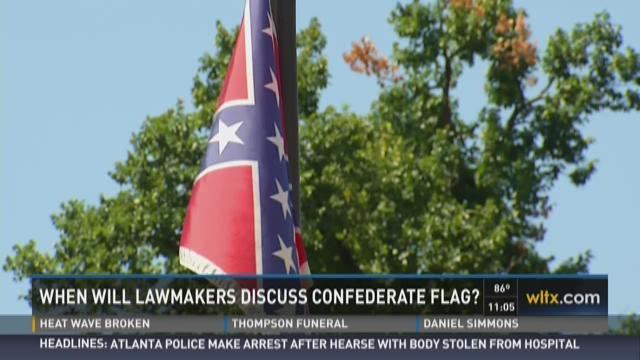 When Will Lawmakers Discuss Confederate Flag?