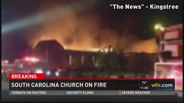 South Carolina Church on Fire