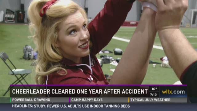 Cheerleader Cleared to Return