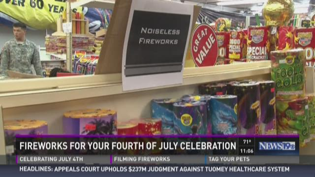 Fireworks for your Fourth of July celebrations