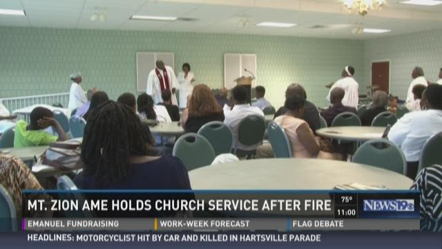 Mt. Zion AME Holds Church Service After Fire