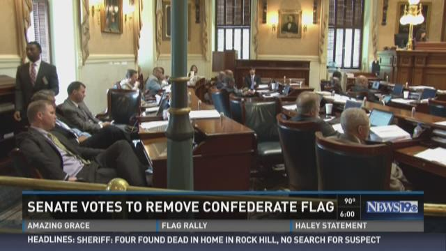 Senate Votes to Remove Confederate Flag