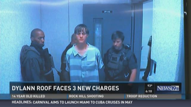 Dylann Roof Faces 3 New Charges