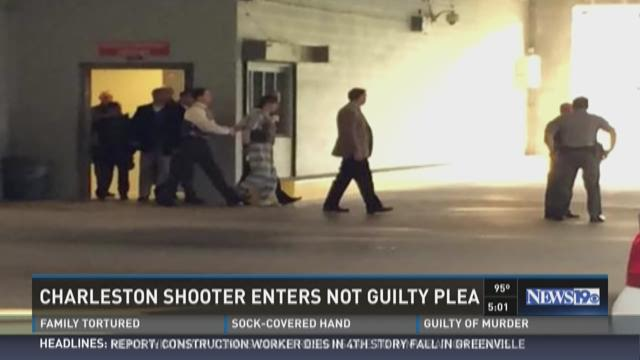 Charleston Shooter Enters Not Guilty Plea