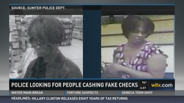Police Looking for People Cashing Fake Checks