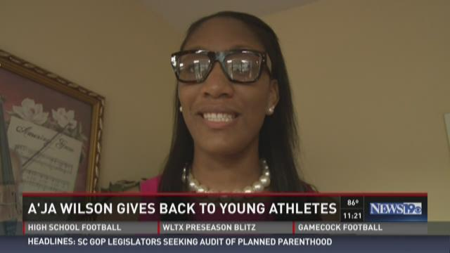 A'ja Wilson Gives Back to Young Athletes
