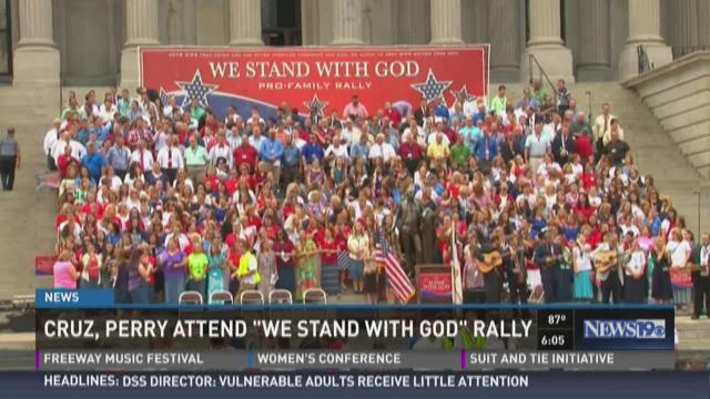 "Cruz, Perry Attend ""We Stand with God"" Rally"