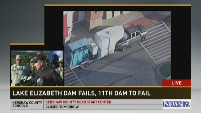 Lake Elizabeth Dam breached