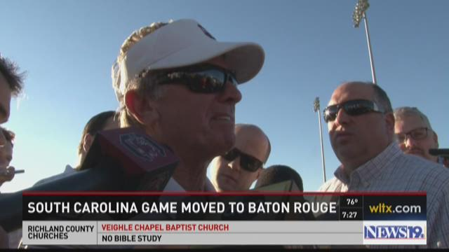 Spurrier Reacts To LSU Game Being Moved To Baton Rouge