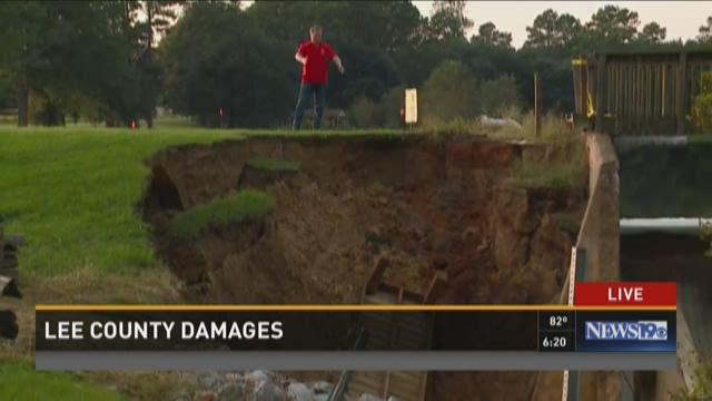 Dam Breaks Cause Major Damage in Lee County