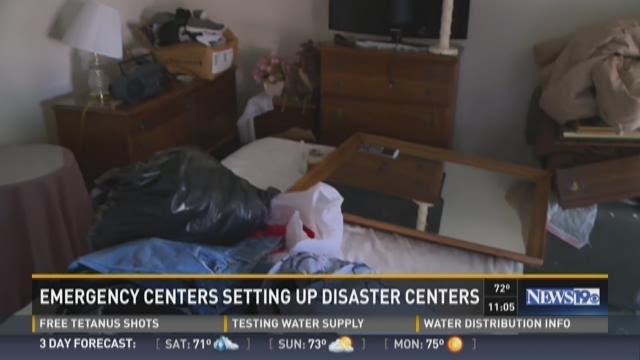 FEMA Setting Up Disaster Centers