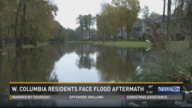 During the floods, the Saluda river overflowed into Quail Creek Hollow neighborhood in West Columbia.