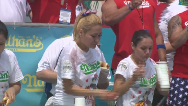 Miki Sudo and Joey Chestnut Win Nathan's Hot Dog Contest